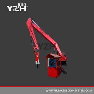 Mobile Type Pedestal Rock Breaker Boom System
