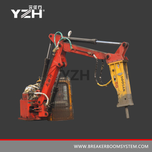 Static Grizzly Rockbreaker Boom System For Surface Mine