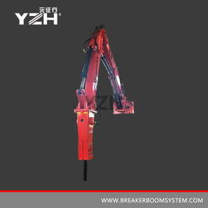 Pedestal Rock Breaker Boom System For Mobile Crusher